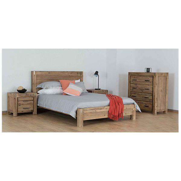 Sterling Bedroom Suite | Bed, Bedside Table, Tallboy
