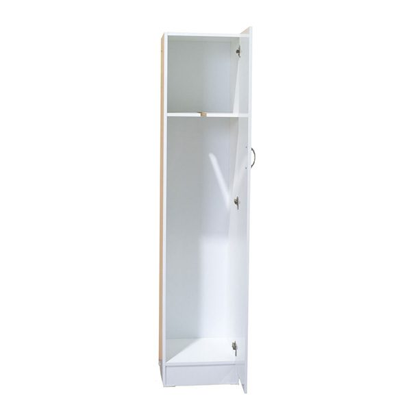 White Melamine 1 Door Broom Cupboard