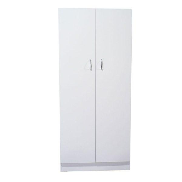 White Melamine 2 Door Cupboard