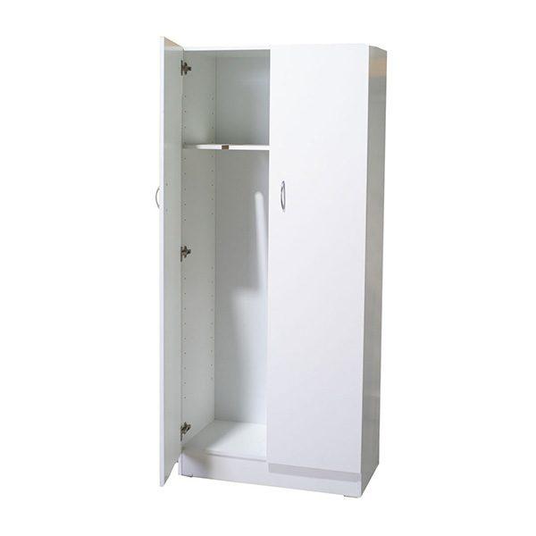 White Melamine 2 Door Combo Cupboard