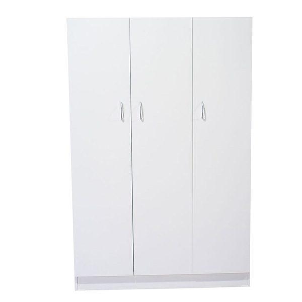 White Melamine 3 Door Cupboard