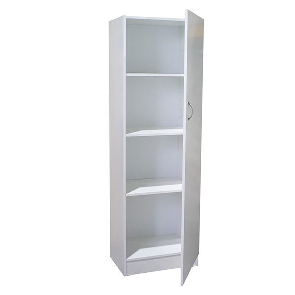 White Melamine 1 Door Pantry/Linen Cupboard